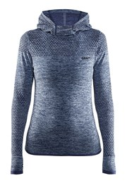 Funktions-Sweatshirt Craft Core Hood Seamless Blue