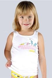 Baumwollenes Unterhemd für Mädchen