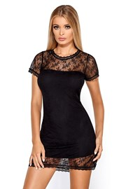 Elegantes Nachthemd Anabell Black