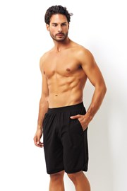 Schwarze Shorts aus Baumwolle