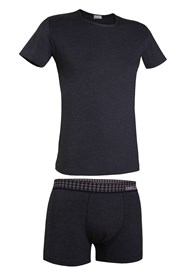 Herren-Set T-Shirt und Boxershorts Enrico Coveri 1625B