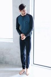 Blaues Homewear-Set Cesare