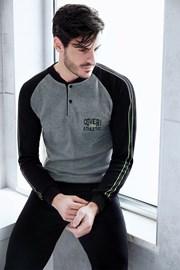 Grauschwarzes Homewear-Set Cesare