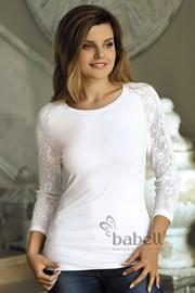 Damen Shirt mit Ärmeln aus Spitze Freya