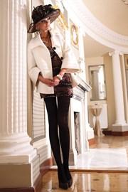 Elegante Strumpfhose Glamour Soft Black