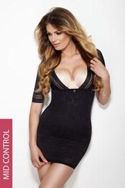 Shaping Kleid Glossy schwarz