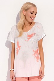 Luxuriöses T-Shirt Kloe White