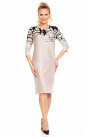 Kleid für Damen Livia Beige mit Muster
