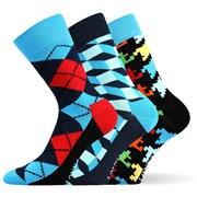 3er-Pack modischer Socken Woodoo MixB