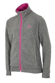 Fleece-Sweatshirt für Mädchen Grey 4f