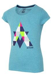 Mädchen-T-Shirt Autumn Blue