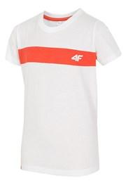 Kinder-Baumwoll-T-Shirt White 4f