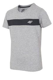 Kinder-Baumwoll-T-Shirt Grey 4f