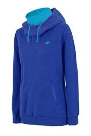 Sportliches blaues Sweatshirt mit Stehkragen