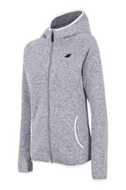 Graues Sweatshirt mit Reißverschluss 4f