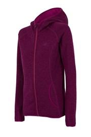Violettes Sweatshirt mit Reißverschluss 4f