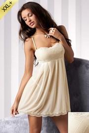 Hochwertiges Nachthemd + String Nicolette Cream