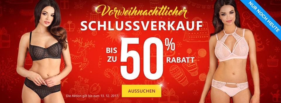 Weihnachtlicher Schlussverkauf -55 %